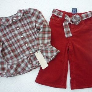 RALPH LAUREN Infant Girl's Holiday Outfit 12M
